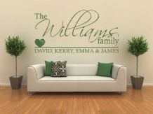 PERSONALISED Family Wall Art Quote, Wall Sticker, Decal, Modern Vinyl Transfer